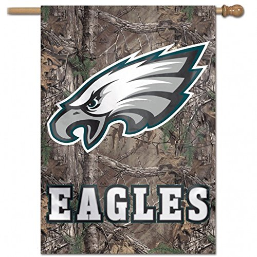 WinCraft NFL Philadelphia Eagles 83291010 Vertical Flag, 27'' x 37'', Black by WinCraft