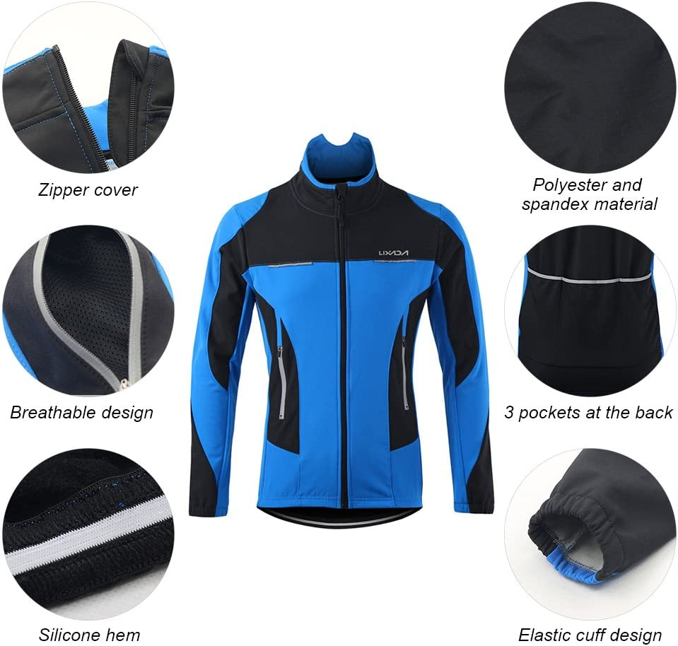 Pantalon de V/élo Pantalon Lixada Hommes Cyclisme Veste Thermique Respirant Cyclisme V/êtements Ensembles Long Manches Veste Imperm/éable Optionnel