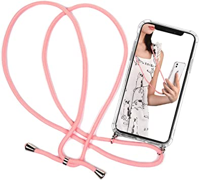 Case para iPhone 11 - Carcasa de movil con Cuerda para Colgar ...