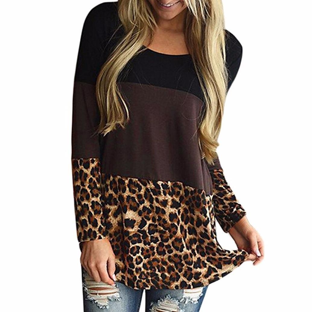 Winwintom 2018 Grande Promotion Manches Décontractées Haut en Dentelle à Manches Longues Dos MosaïQue de Couleur pour Les Retour Tunique en Dentelle Tops Leopard Casual T-Shirts Blouses ww-4668