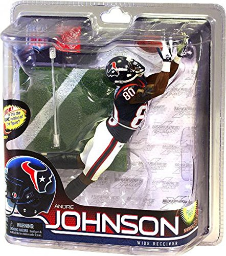 Andre Johnson Jersey - McFarlane Toys NFL Sports Picks Series 28 Action Figure Andre Johnson (Houston Texans) Blue Jersey Bronze Collector Level Chase