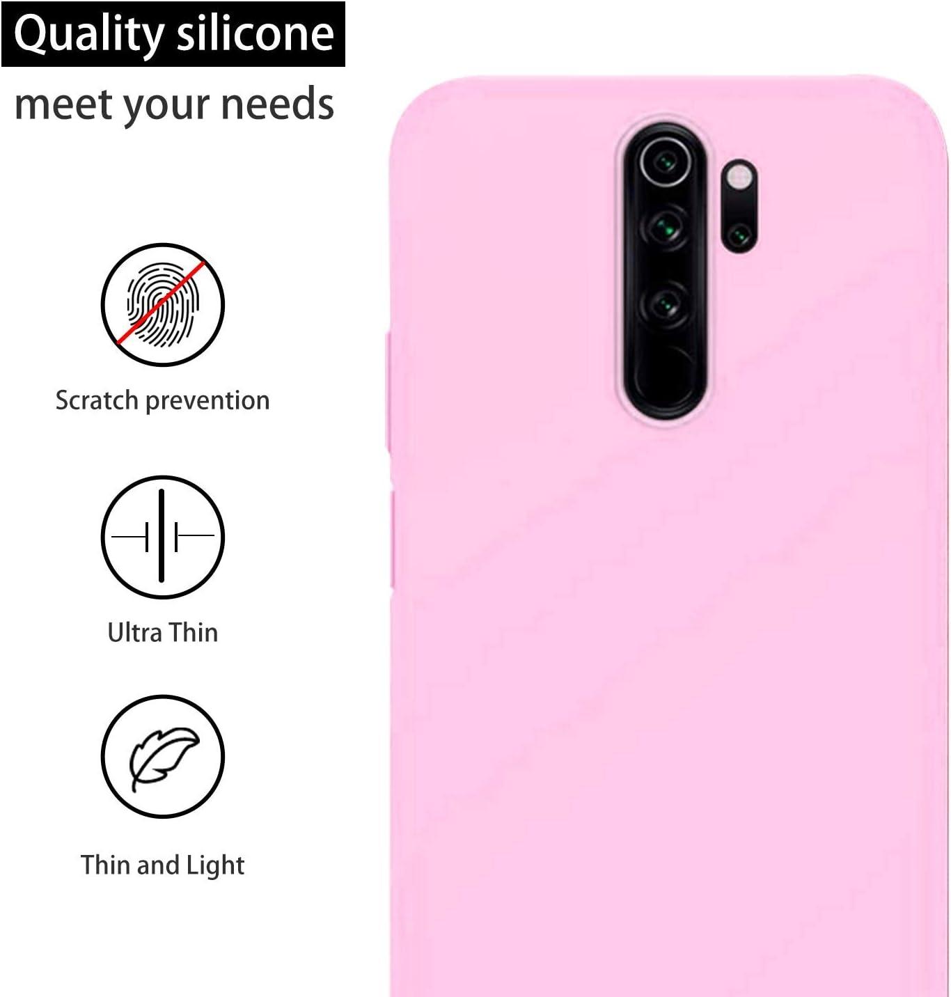 cuzz Funda para Xiaomi Redmi Note 8 Pro+{Protector de Pantalla de Vidrio Templado} Carcasa Silicona Suave Gel Rasgu/ño y Resistente Tel/éfono M/óvil Cover-Negro