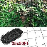 Yaheetech Heavy Duty 25' X 50' Net Netting for Bird Poultry Aviary Game Pens Black