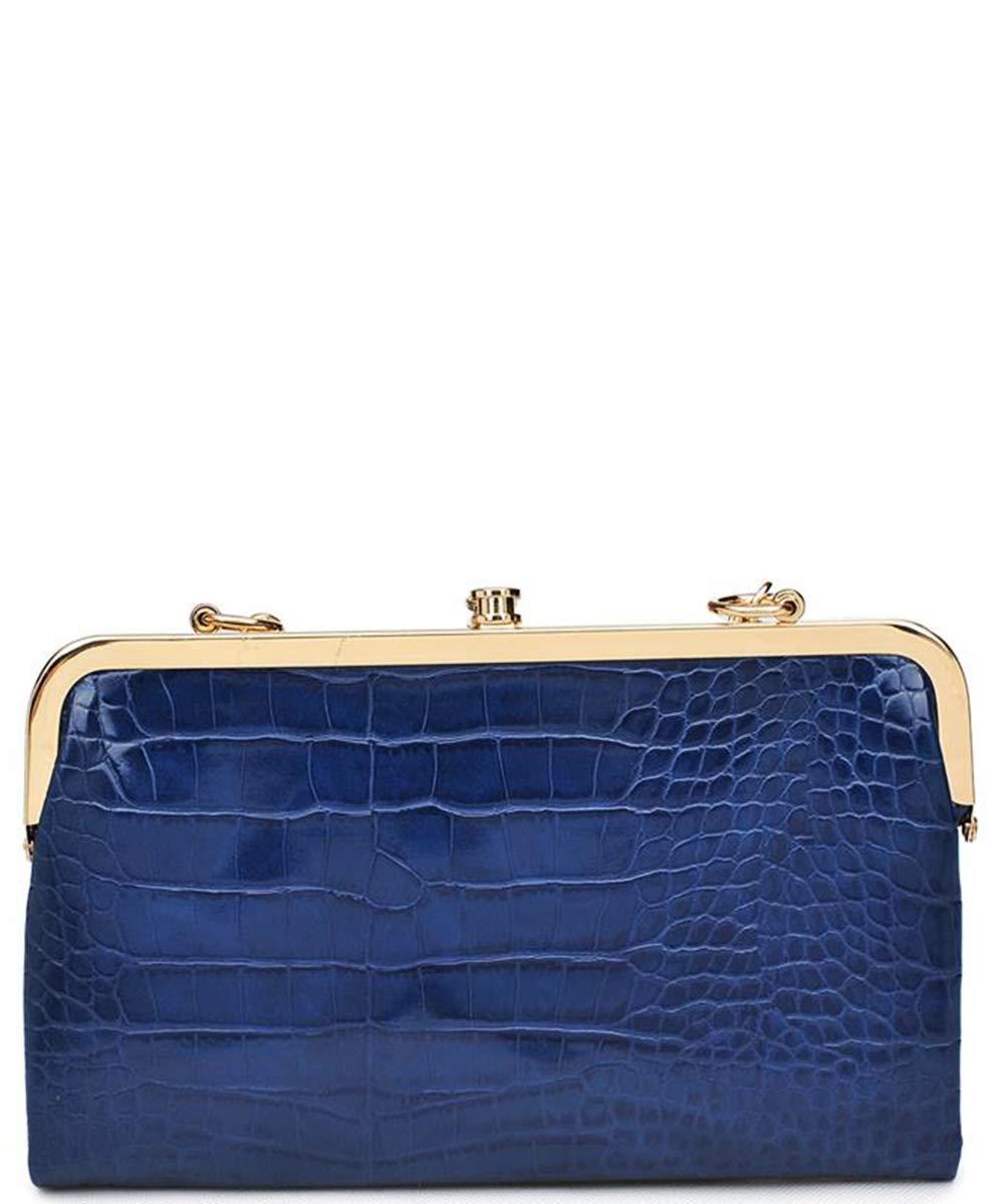 Urban Expressions Vegan Leather Sandra Clutch Wallet (Navy)