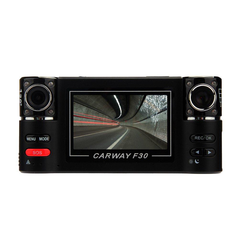 KUNAW Car Camera 2.7-inch TFT HD Screen FHD 1080P, 170-degree Camera DVR, Dual Front and Rear Camera, G Sensor, Motion Detection and Continuous Recording