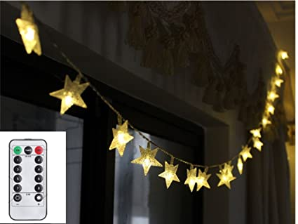 Battery Operated String Lights Outdoor,16 Feet 50 LED Five-Pointed Star  Christmas Lights - Amazon.com : Battery Operated String Lights Outdoor, 16 Feet 50 LED