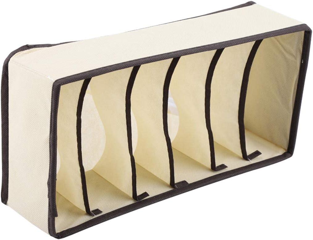Yuehuam Pliable Commode Tiroir Organisateur Portable Nylon Diviseur Bo/îte de Rangement Placard Cas Conteneur Conteneur Bacs pour Soutien-Gorge sous-V/êtements Chaussette