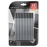ARTEZA Fineliner Fine Point Pens, Fine Tip Markers, Black Color (0.4 mm Tips, Set of 12)