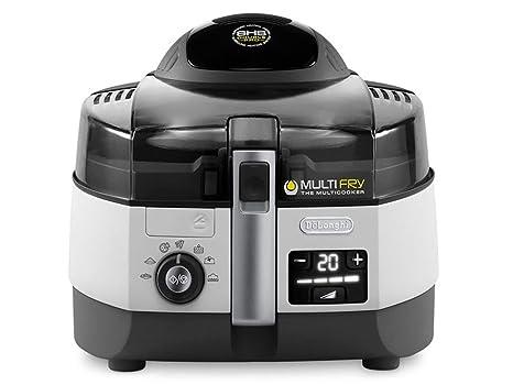 DeLonghi MultiFry Extra Chef Freidora, 1,7 kg de capacidad, resistencia inferior de 800 W, panel de control digital LCD con 7 programas automáticos