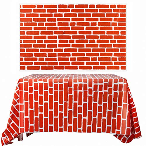 Red Brick Wall Wallcover Photo Brick Wall Backdrop Brick Sticker Wallpaper for Winter/Christmas Party, 2 -