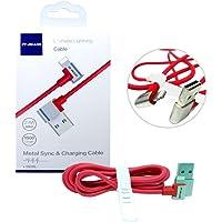 Cabo Usb Tipo Lighthing iPhone iPad 13010L It-Blue 1 Metro Dados Carregador Reforçado Vermelho