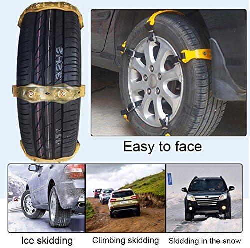 Pergrate Winter Anti Blockierketten Auto Schnee Schlamm Rad Reifen Verdickte Reifen Sehne 165 195mm Auto
