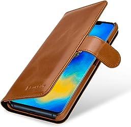 StilGut Housse pour Huawei Mate 20 Pro Porte-Cartes en Cuir, Cognac