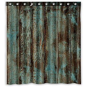 "Welcome!Waterproof Decorative Rustic Old Barn Wood Art Shower Curtain 66""x72""-10"