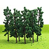 #10: D8030 40PCS Model Trees-80mm/3.14 inch TT HO Scale Train Layout Iron Wire Trees,Diorama Supplies, Railroad Scenery, Fake Trees for Projects, Woodland Scenery for DIY Crafts or Building Model New