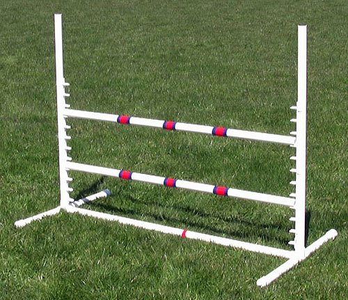 Affordable Agility White Competition Adjustable Jump by Affordable Agility
