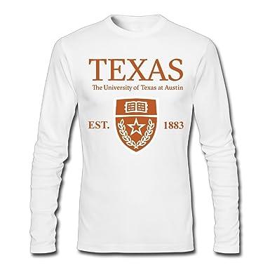 dea7be7b707a59 QTHOO Men's O Neck University Of Texas At Austin Established 1883 Long  Sleeve Tee Shirt