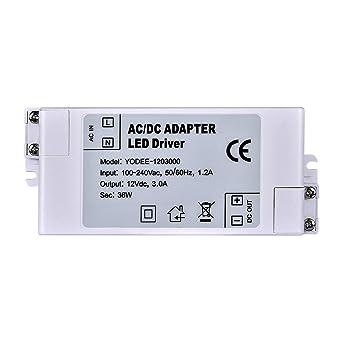 LUMA transformador LED transformador DC 12 V 36 W AC 100 – 240 V