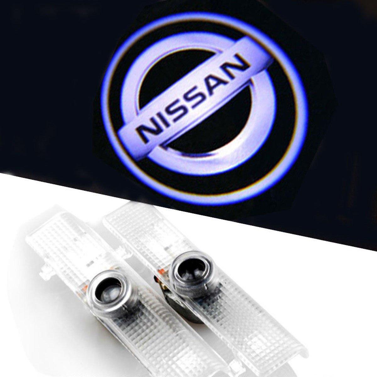 2X Cree LED Door Step Courtesy Light Laser Shadow Logo Projector Lamp For Nissan Armada Maxima 04-17 Quest 04-16 Titan 03-16 Altima Coupe 08-13 Altima Sedan 02-15 CNAutoLicht