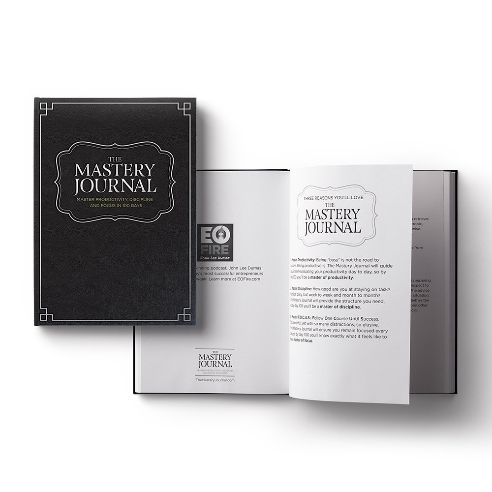 The Mastery Journal - The Best Daily Planner for mastering productivity, discipline and focus in 100 days! Hardcover, Non Dated - 1 Year Guarantee by The Mastery Journal (Image #2)
