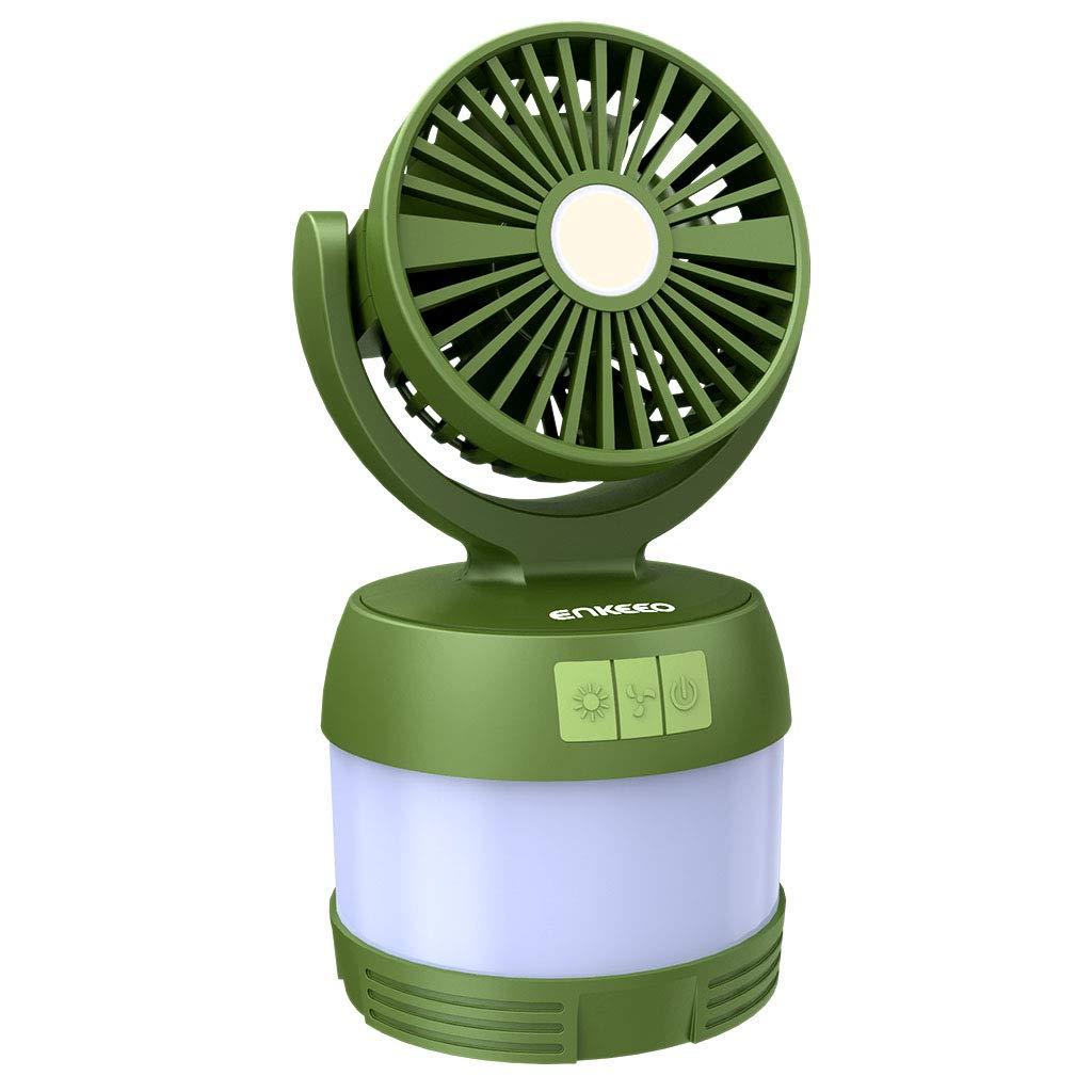 ENKEEO - Linterna con Ventilador