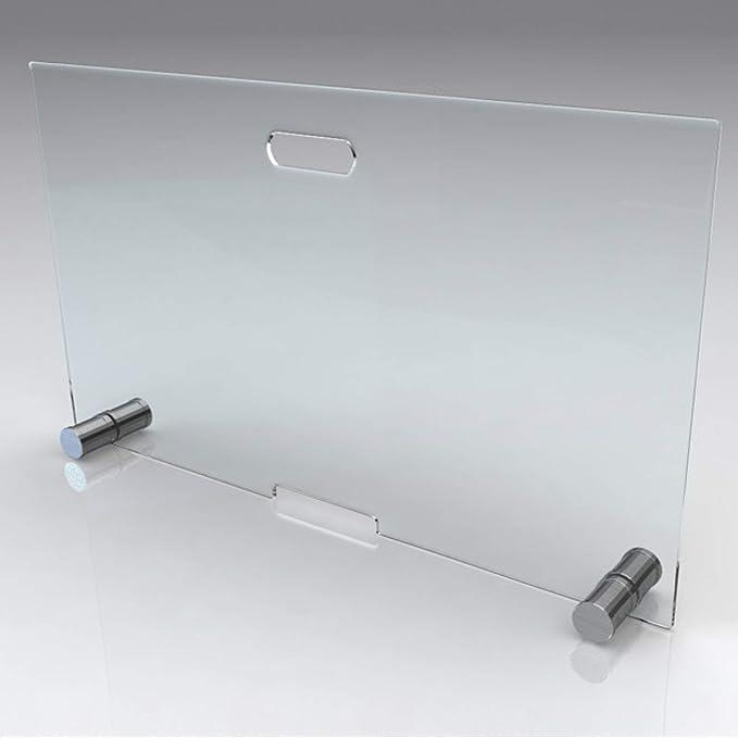 glasshop24 bijon/® Kamin Ofen Glas Funkenschutzgitter Funkenschutz Schutzgitter 75x50x16cm BxHxT