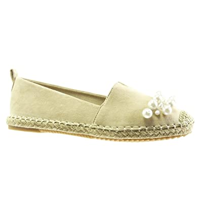 sports shoes for whole family new lower prices Angkorly Damen Schuhe Espadrilles Mokassin - Slip-on - Perle ...
