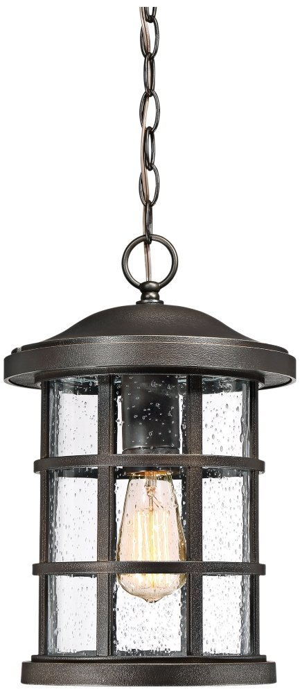 Quoizel One Light Outdoor Hanging Lantern CSE1910PN, Large, Palladian Bronze by Quoizel