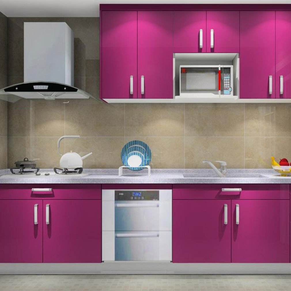 Amazon.de: Auralum® 5x0.61 M PVC Küchenschrank-Aufkleber ...