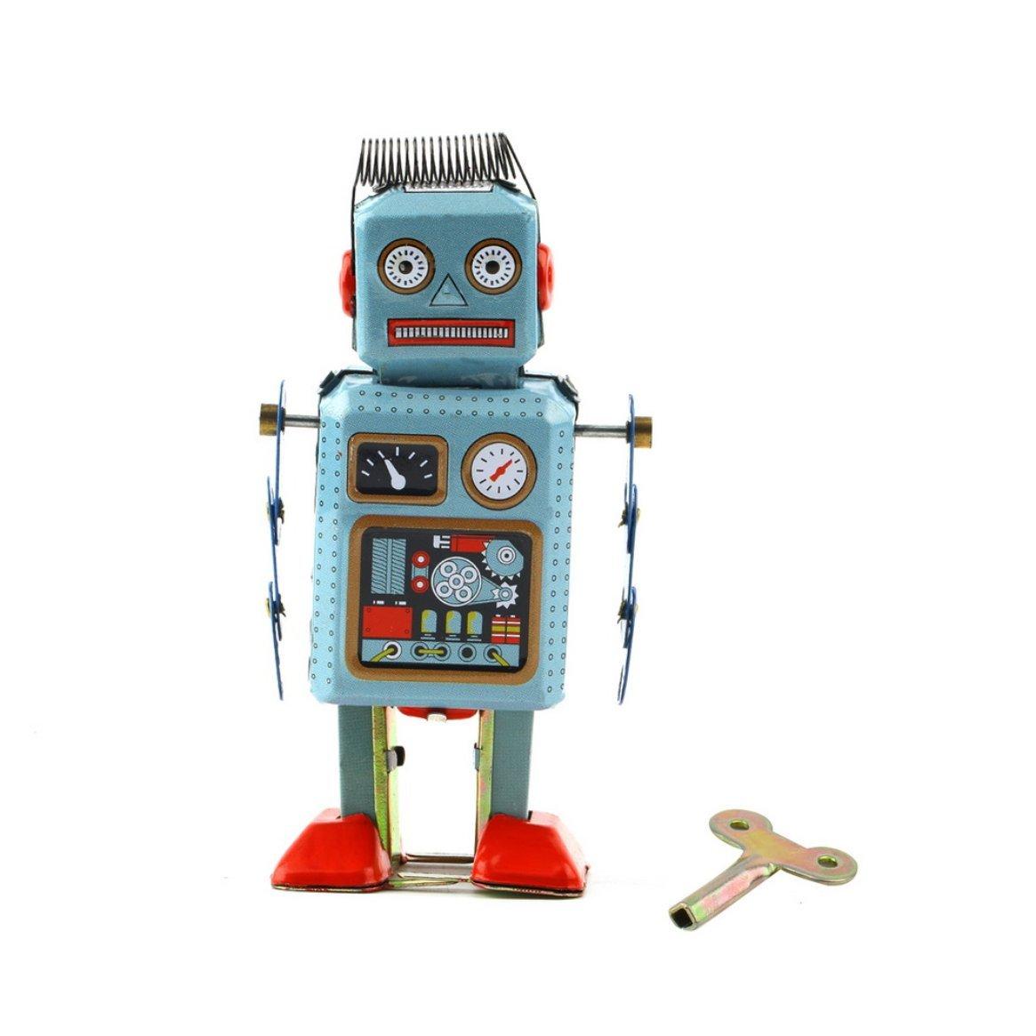 1pc meccanico vintage clockwork wind up metallo walking robot giocattolo di latta per bambini regalo vendita in tutto il mondo in tutto il mondo Delicacydex