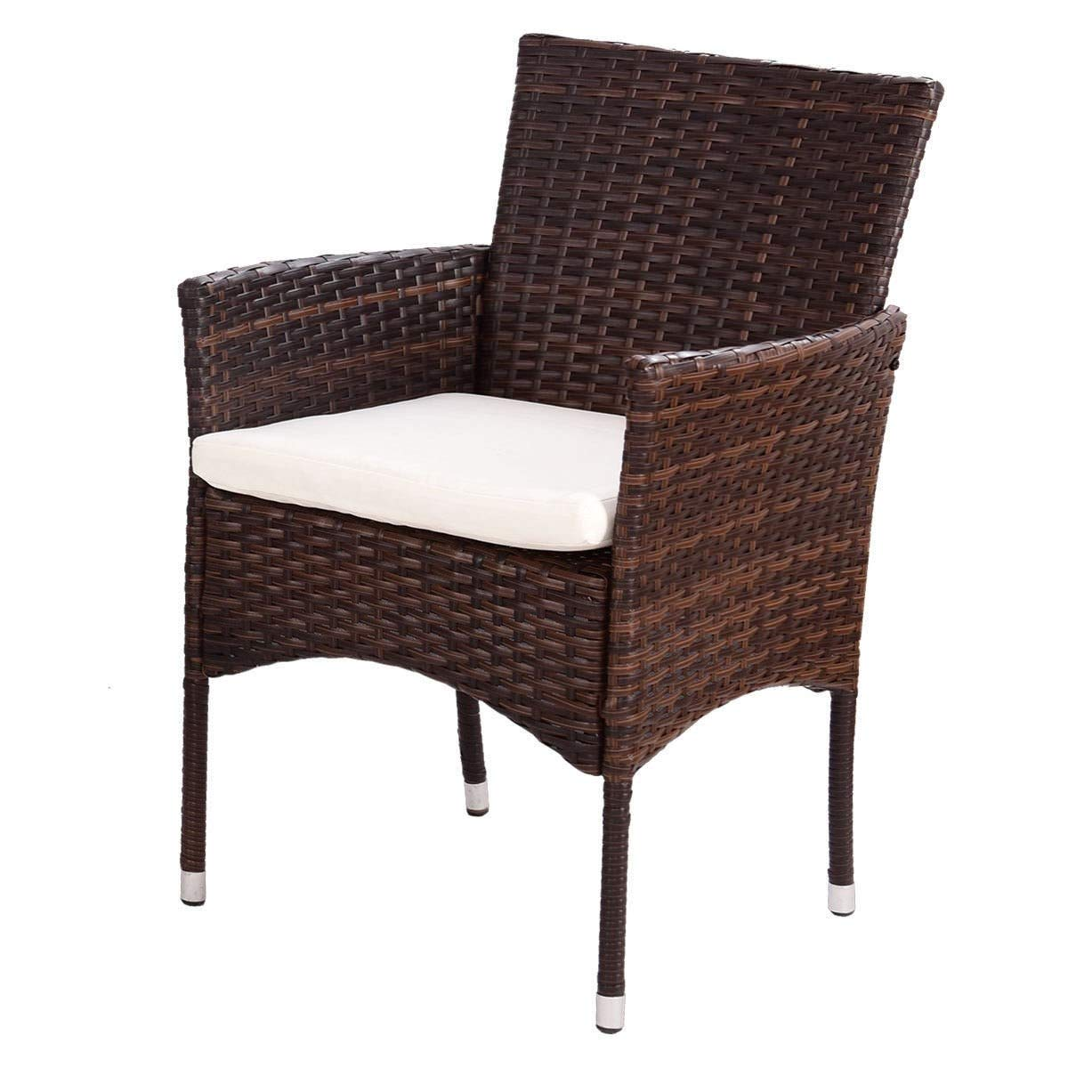 EnjoyShop 4 Pcs PE Rattan Wicker Table Shelf Sofa Furniture Set with Cushion Dining Garden Picnic Outdoor by EnjoyShop (Image #10)
