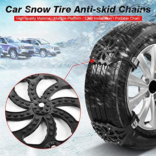 1/2/4/8 Pcs Universal Car Snow Chains Adjustable Snow Tire Chains For Trucks Cars SUV Anti-Slip Snow Tire