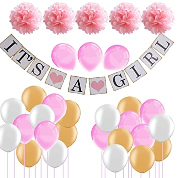 Amazon 36pcs Pink Princess Baby Shower Party Decorations Baby