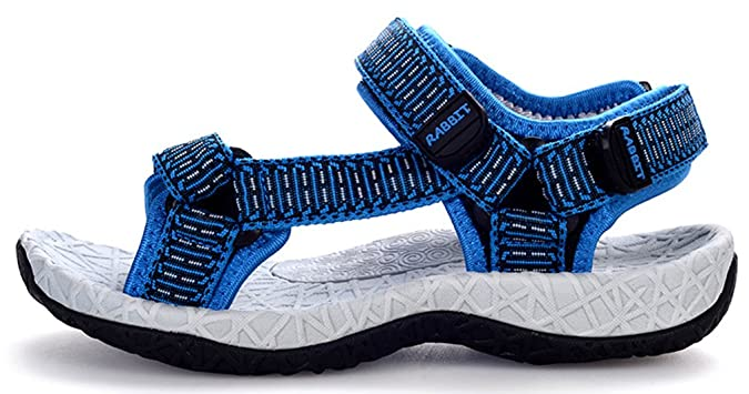 VECJUNIA Baby Boys Girls Outdoor Sandals Closed-Toe Soft Sole Stripes Woven Upper Walking Shoes Toddlers