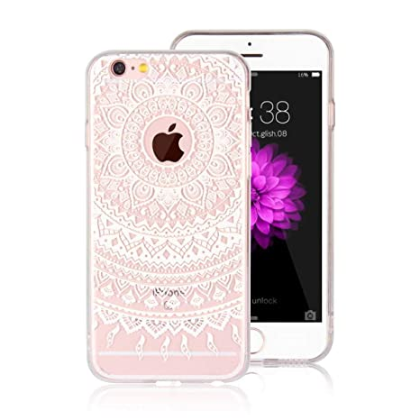 DENDICO Funda iPhone 6 Carcasa iPhone 6s Silicona Ultra Delgado de Estuche Funda Transparente Suave TPU para Apple iPhone 6 / 6s -Blanco