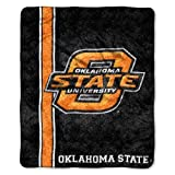 OKLAHOMA STATE COWBOYS NCAA SHERPA THROW (JERSEY SERIES) (50IN X 60IN) by Northwest