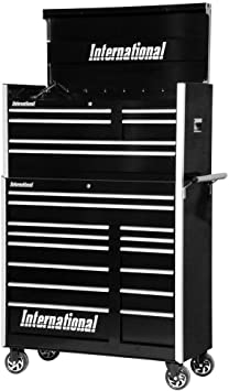 Amazon Com International Pro Series 42 In 20 Drawer Tool Chest And Cabinet Combo Home Improvement
