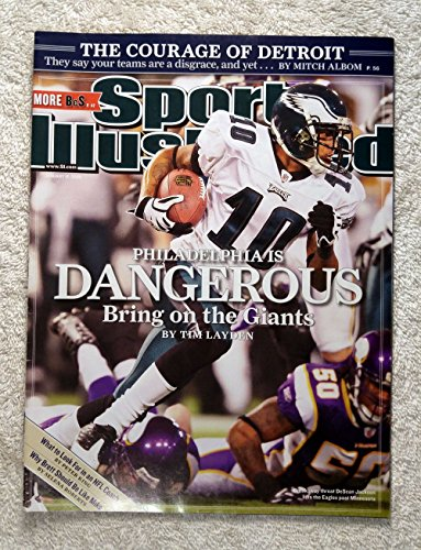 2009 Sports Illustrated Cover - DeSean Jackson - Philadelphia Eagles - Philadelphia Is Dangerous - Bring on the Giants! - Sports Illustrated - January 12, 2009 - Regional Cover - SI
