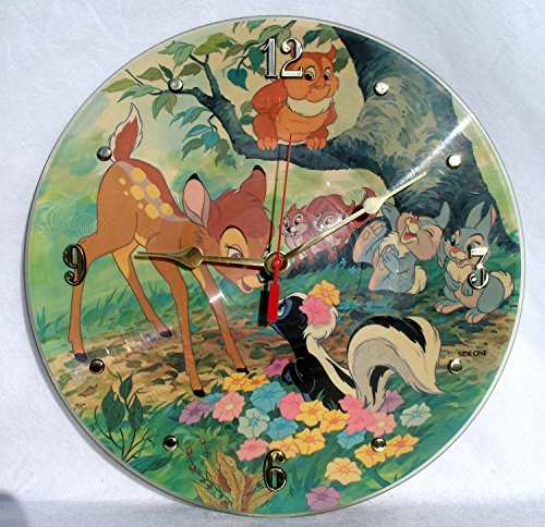 BAMBI Recycled Vinyl Record Clock – Disney's Picture Disc - Picture Bambi