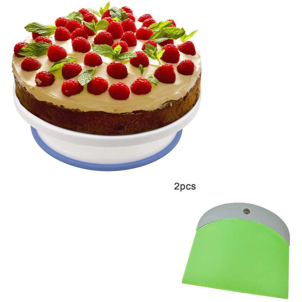 supporto girevole per torta 120 105 Mm Burro raschietto professionale per torta stile glassa supporto giradischi plastica decorazione piatto girevole