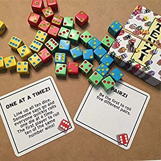 TENZI 77 Ways to Play The Add-on Card Set for The Dice Party Game - Ages 7 to 97
