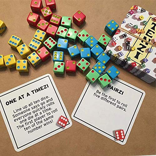 image relating to 77 Ways to Play Tenzi Printable referred to as 77 Strategies in the direction of Enjoy TENZI - The Incorporate-upon Card Mounted for the TENZI Cube Get together Sport - Ages 7 toward 97
