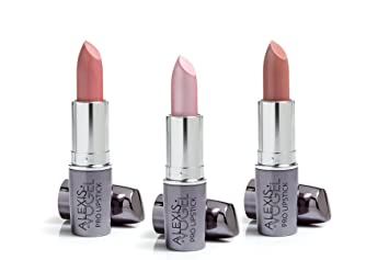 Amazon.com: Set of 3 Long Lasting Lipsticks - Alexis Vogel Pink ...