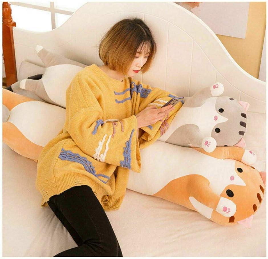 Sleeping Cat Hugging Pillow Almohadas para el cuello gris, 50cm Ropa de cama Sleeping Cat Hugging Pillow Peluche de peluche Almohadas est/ándar Almohadas para el cuerpo