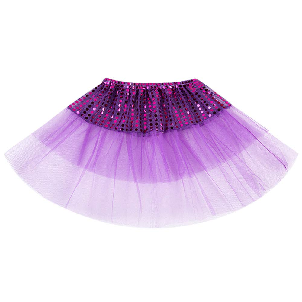Toddler Baby Girls Ballet Tutu Princess Skirt Party Ballet Dance Pettiskirt Costume Above Knee Sequins Tulle Petticoat