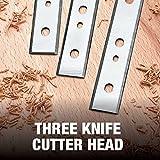 DEWALT 13-Inch Thickness Planer - Three Knife, Two