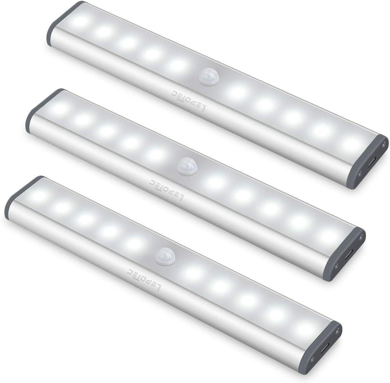 3PC LED Bewegungsmelder Schrankleuchten - Lichtleiste