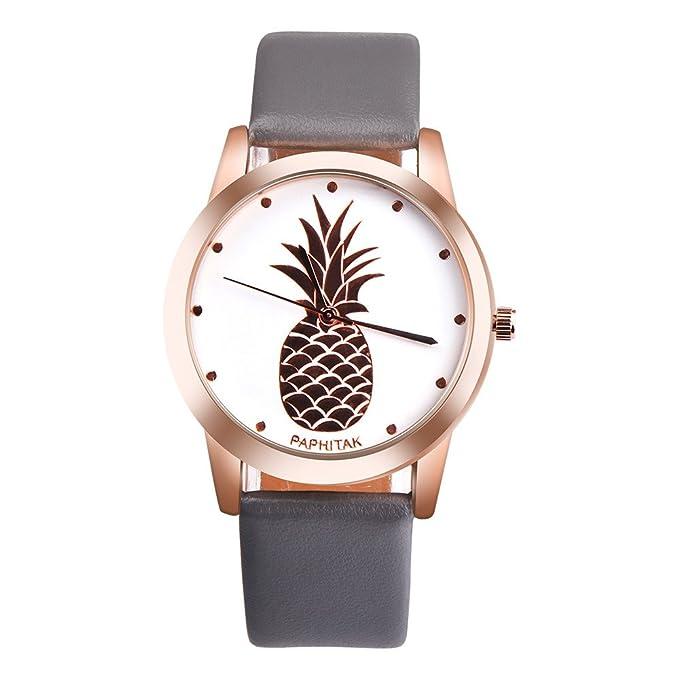Darringls_Reloj WPH11118 PAPHITAK,Reloje Hombres Mujer Relojes Deportivos Reloj de Pulsera de Negocios Casuales análogo de Cuarzo de Cuero para Mujeres y ...