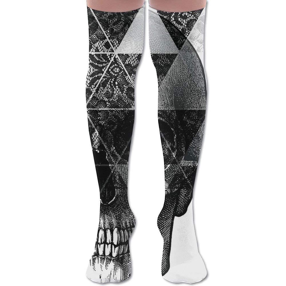 Skull Triangle Unisex Knee High Long Socks Stockings Dress Athletic Soccer Socks Elasticity