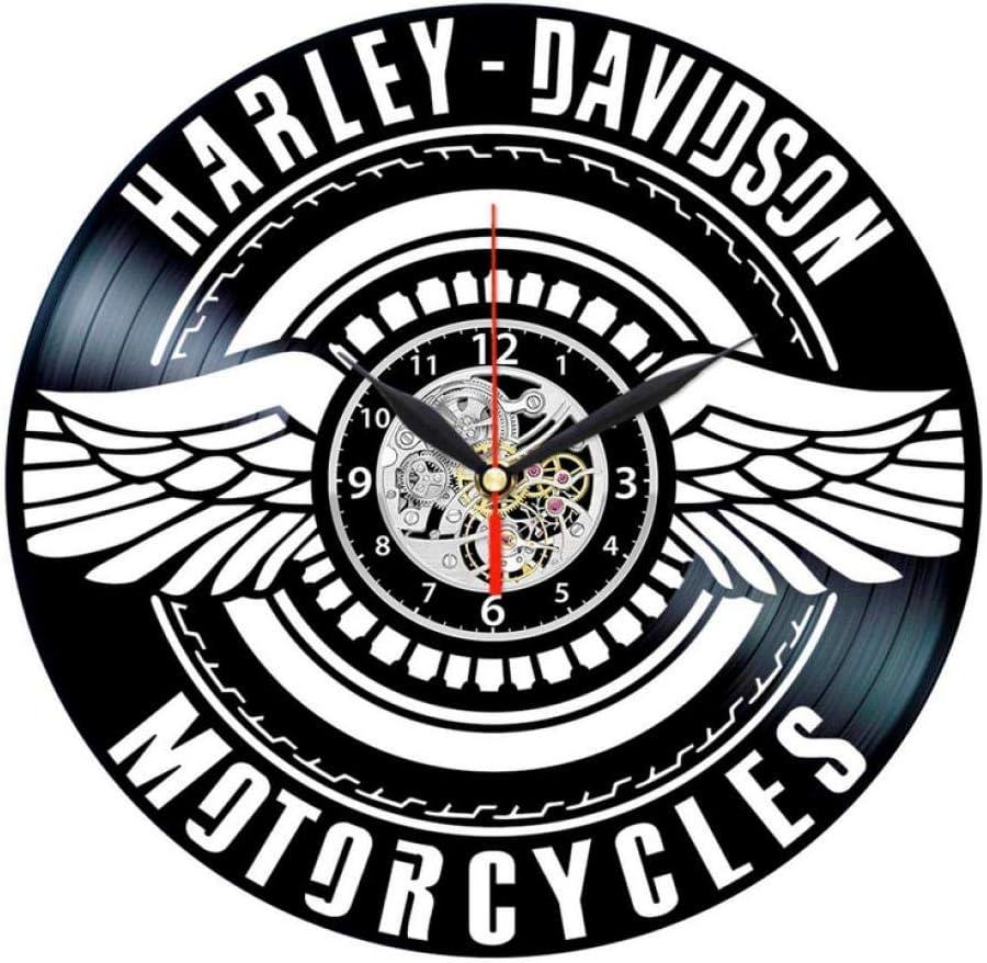 Hcpgz Davidson Vinyl Clock Vinyl Record Wall Decor Vintage Harley Davidson Gifts For Men Amazon Co Uk Kitchen Home,Design Your Own Cattle Brand